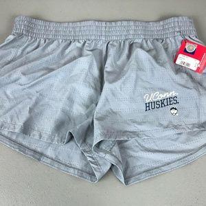 Women's Champion UConn Huskies Shorts Size XL Gray